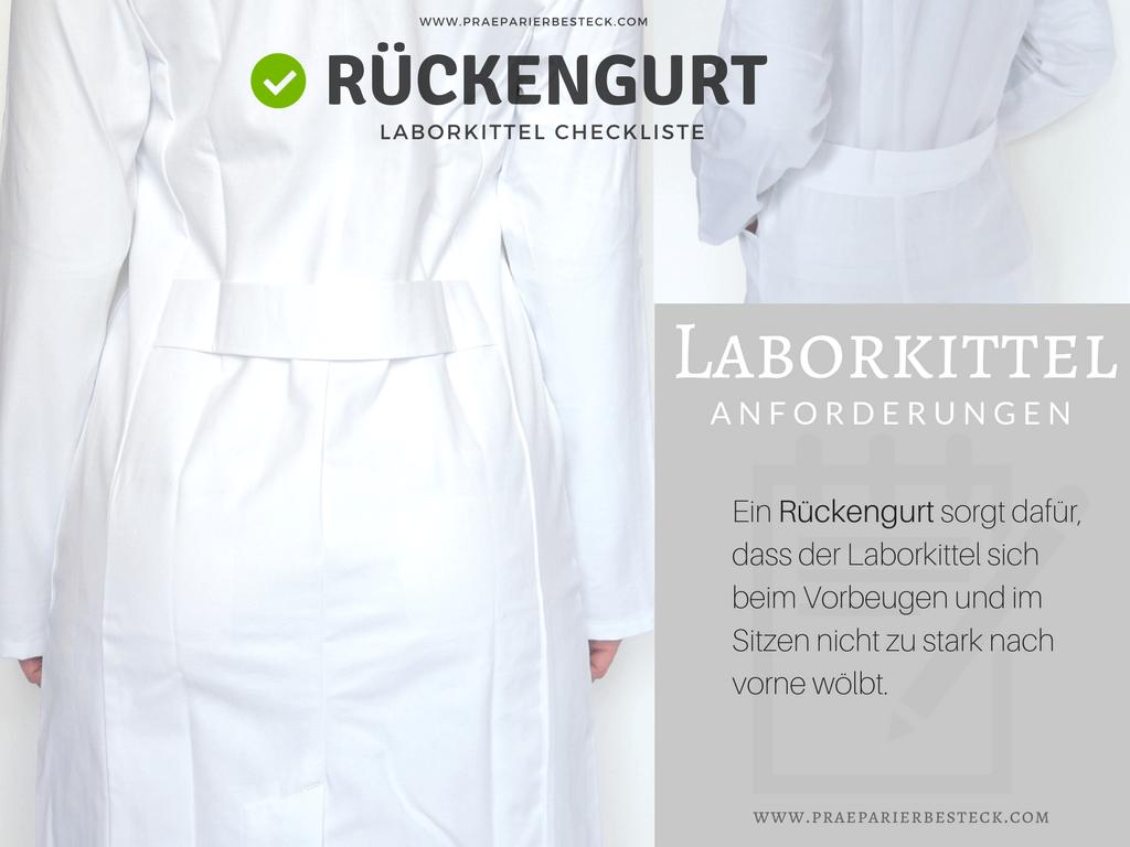 Laborkittel mit Rückengurt