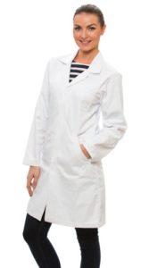 Laborkittel Damen Dr. James Weiß
