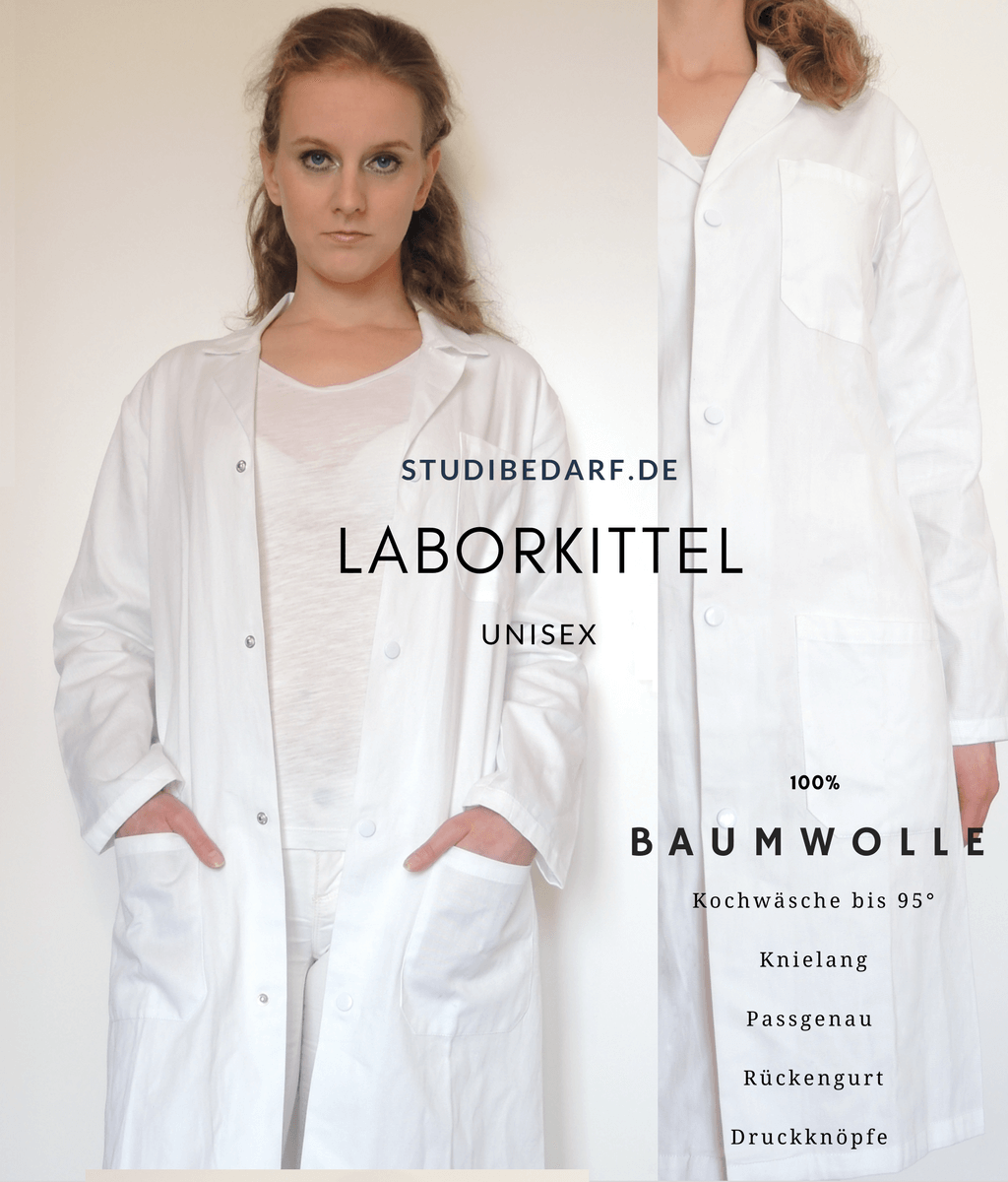 Studibedarf-Laborkittel-Baumwolle-Unisex-Günstig