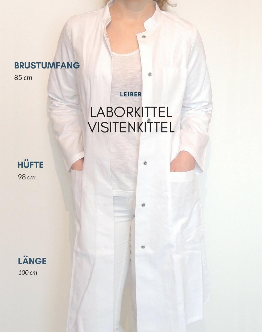 Leiber-Laborkittel-Visitenkittel-weiß-Damen-tailliert-XS