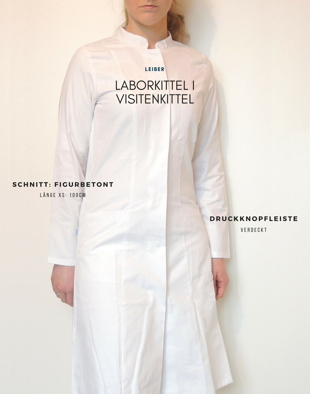 Visitenkittel-Damen-tailliert-XS-Baumwolle-Leiber